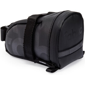Fabric Contain Saddle Bag M black